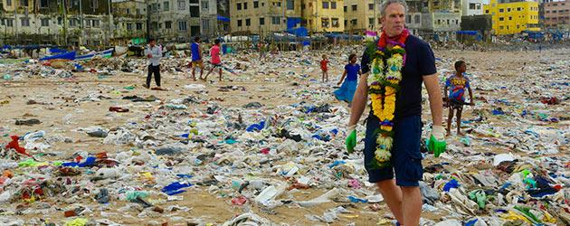 Organizer of world's largest beach clean-up wins top UN Environmental Award Afroz-shah
